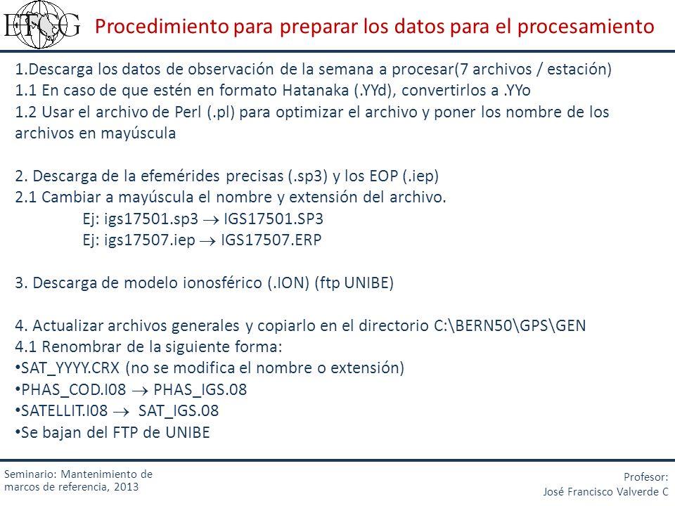 Procedimiento para preparar los datos para el procesamiento