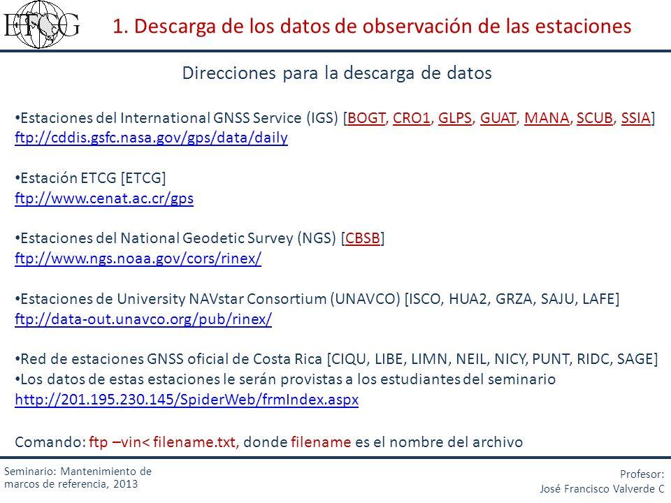 1. Descarga de los datos de observación de las estaciones