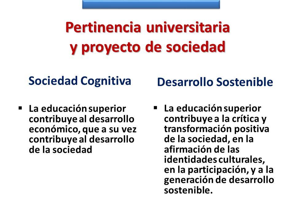 Pertinencia universitaria y proyecto de sociedad