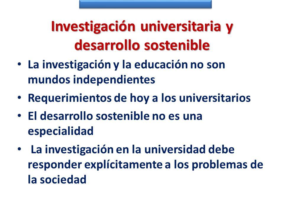Investigación universitaria y desarrollo sostenible