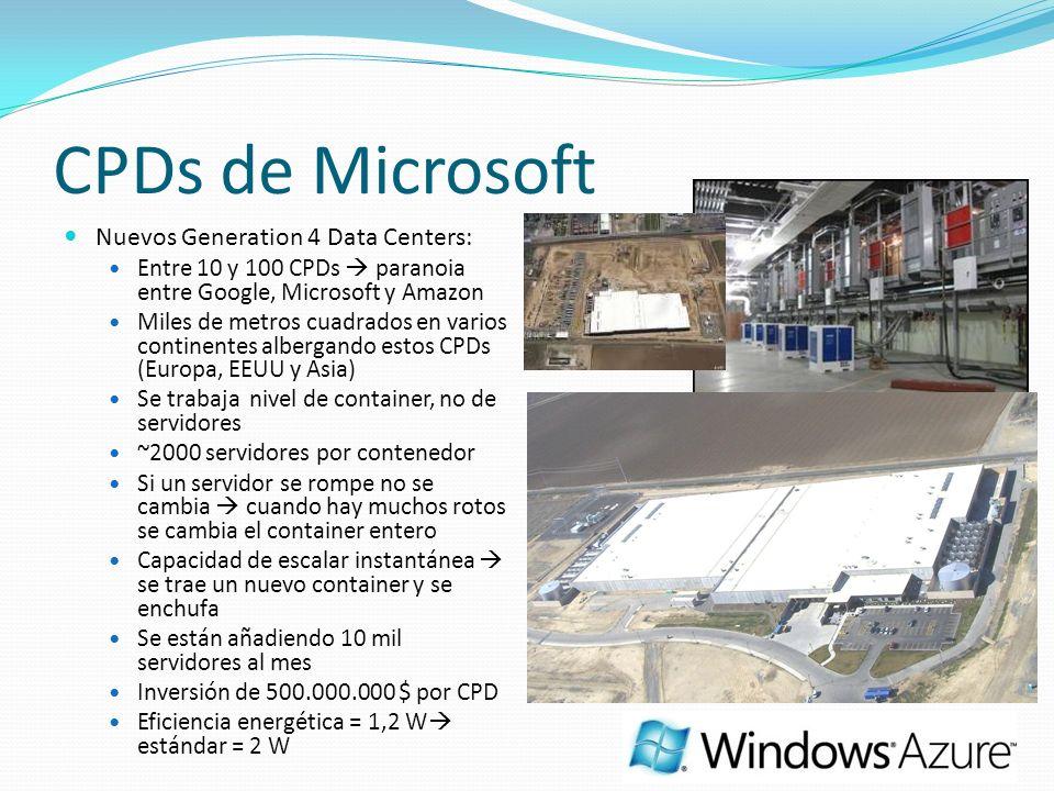 CPDs de Microsoft Nuevos Generation 4 Data Centers: