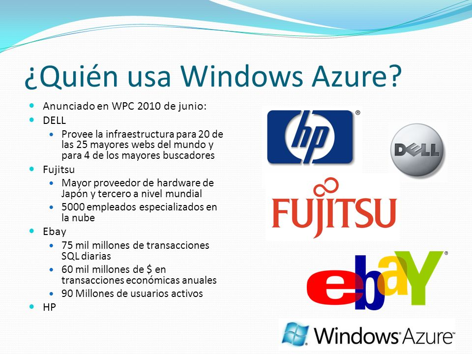 ¿Quién usa Windows Azure