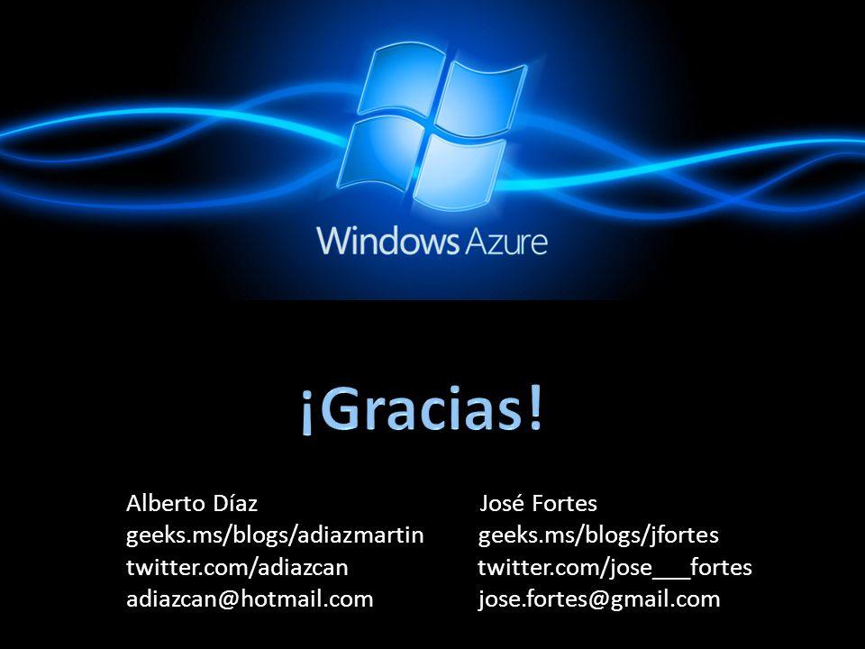 ¡Gracias! Alberto Díaz José Fortes