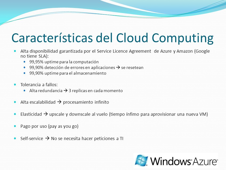 Características del Cloud Computing