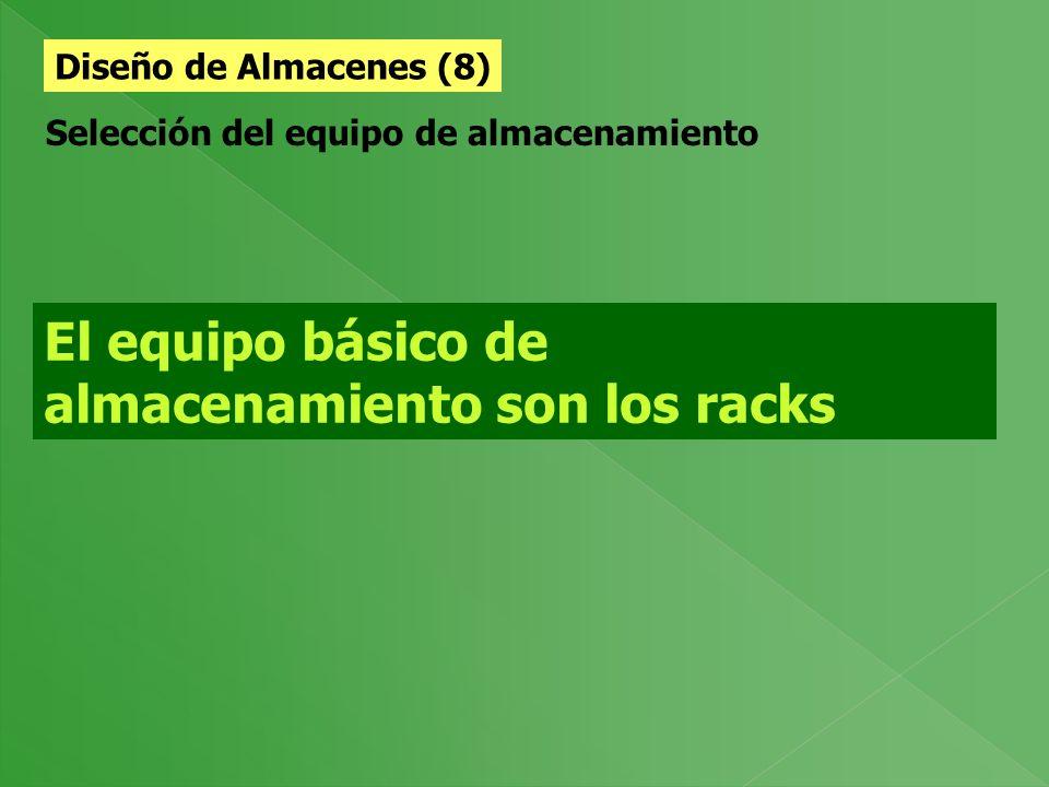 El equipo básico de almacenamiento son los racks
