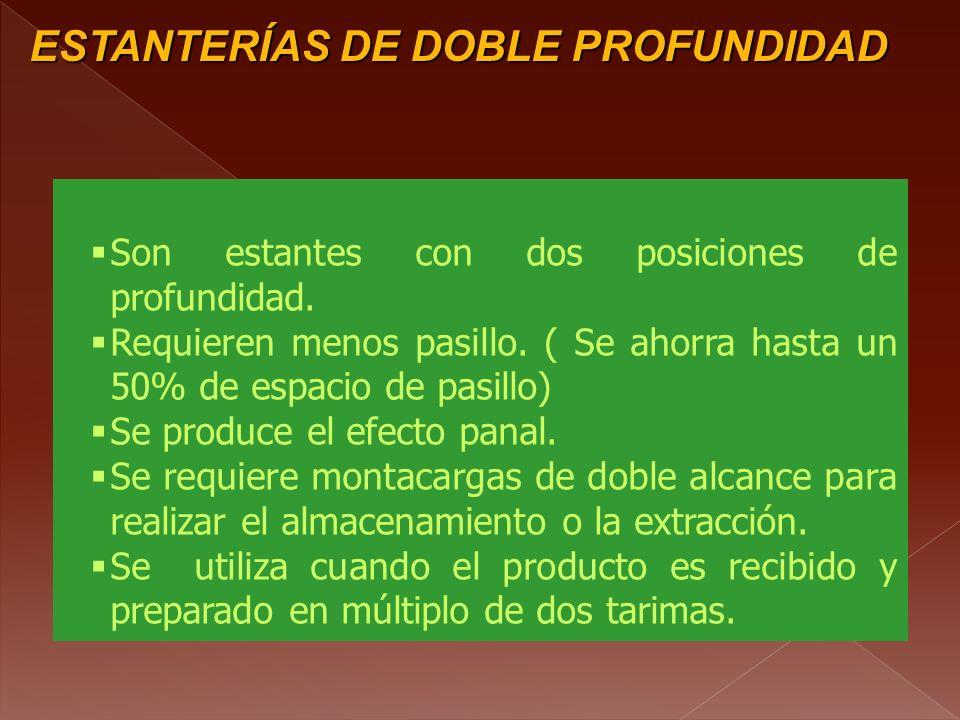 ESTANTERÍAS DE DOBLE PROFUNDIDAD