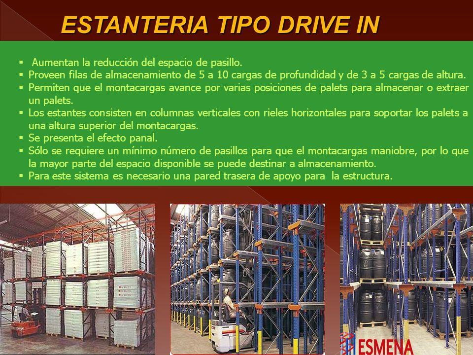 ESTANTERIA TIPO DRIVE IN DRIVE IN