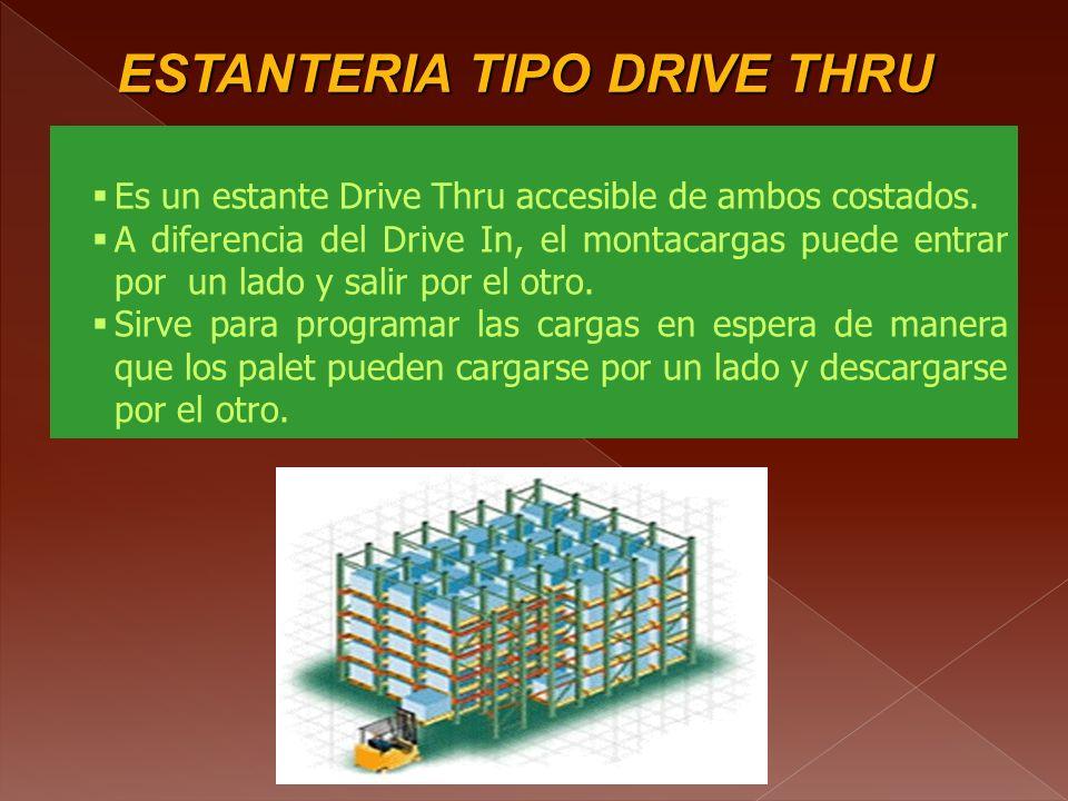 ESTANTERIA TIPO DRIVE THRU