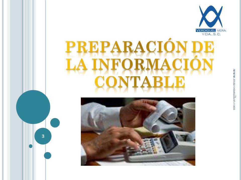 PREPARACIÓN DE LA INFORMACIÓN CONTABLE