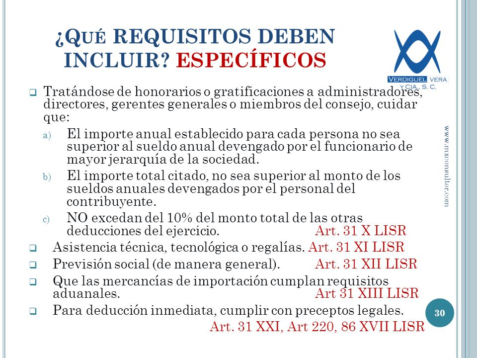 ¿Qué REQUISITOS DEBEN INCLUIR ESPECÍFICOS