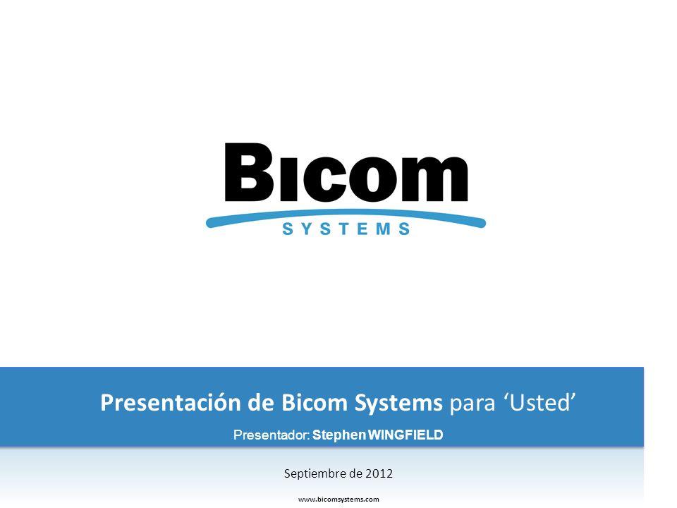 Presentación de Bicom Systems para 'Usted'