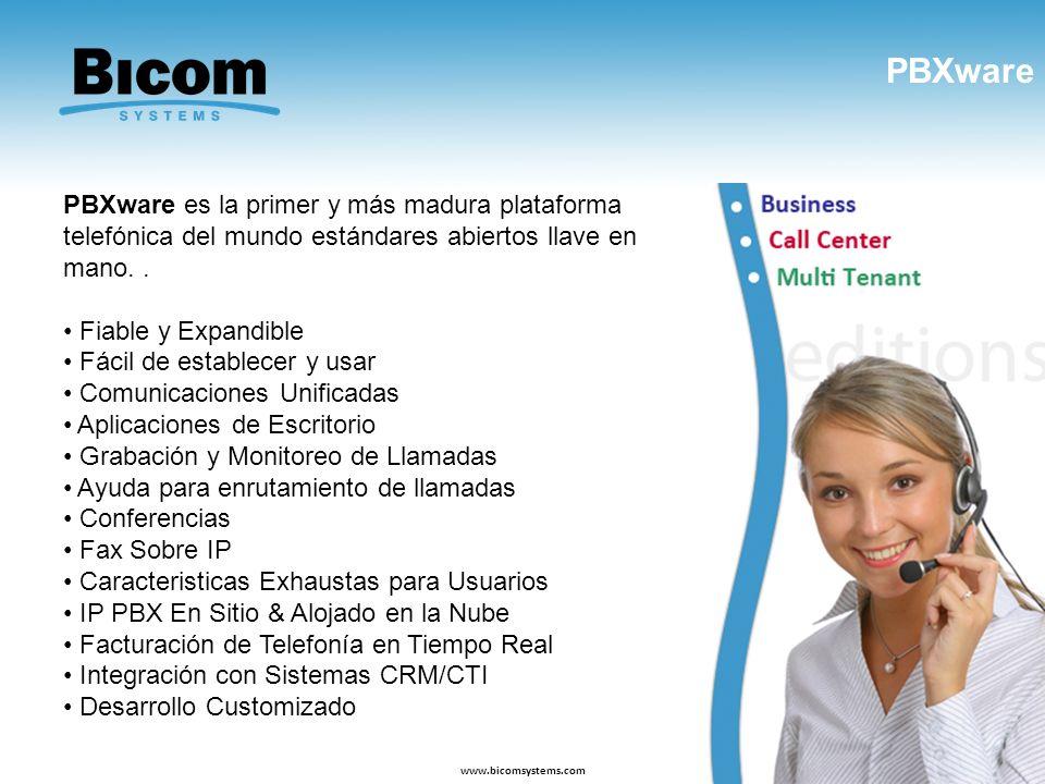 PBXware PBXware es la primer y más madura plataforma telefónica del mundo estándares abiertos llave en mano. .