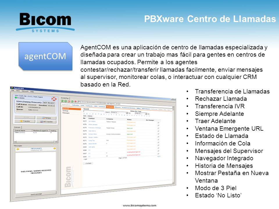 agentCOM PBXware Centro de Llamadas