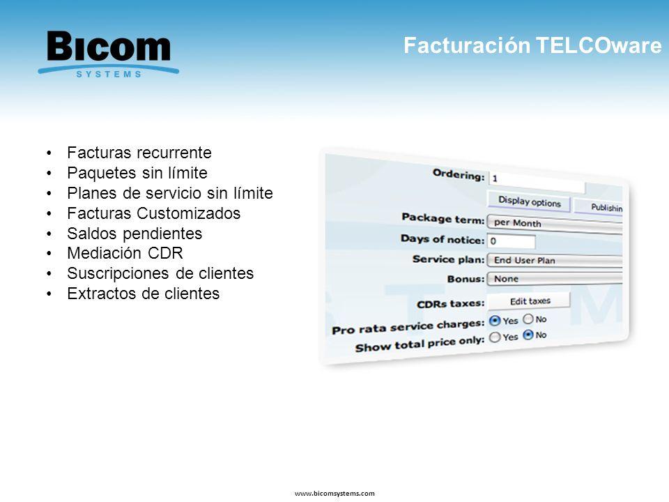 Facturación TELCOware