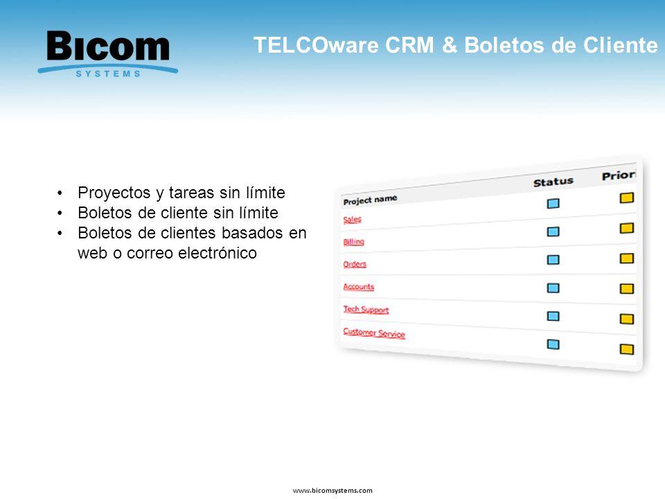 TELCOware CRM & Boletos de Cliente