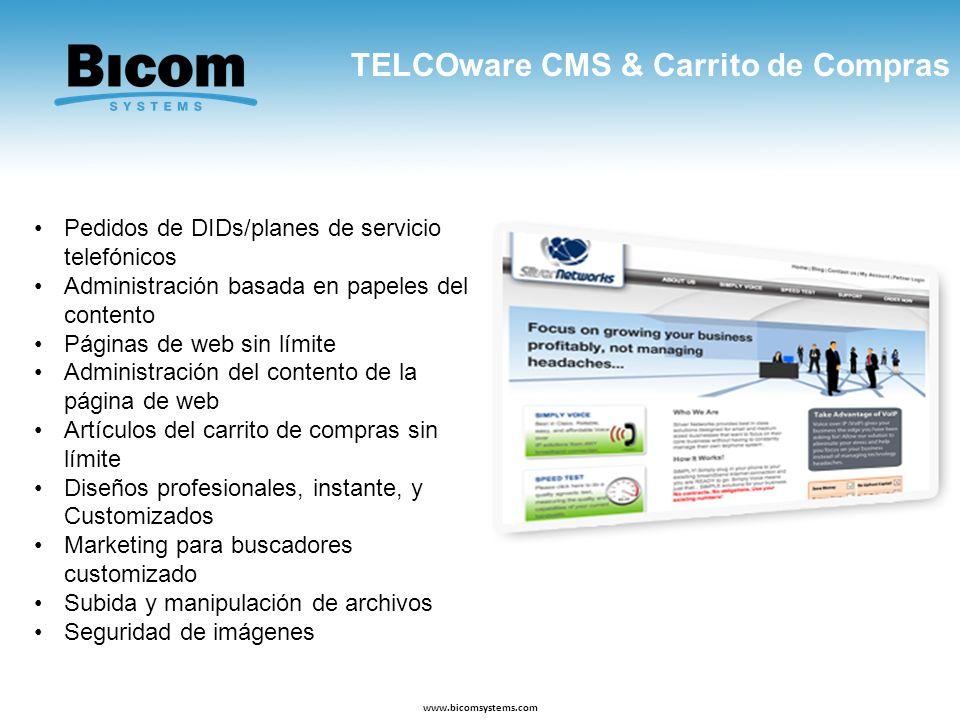 TELCOware CMS & Carrito de Compras
