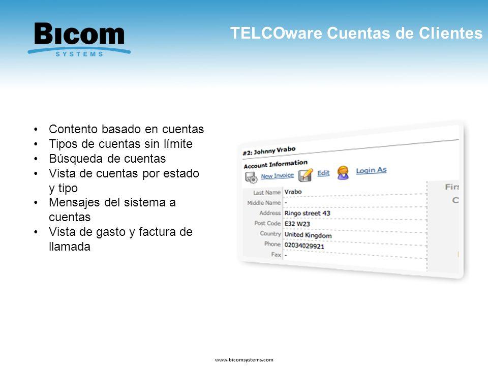 TELCOware Cuentas de Clientes