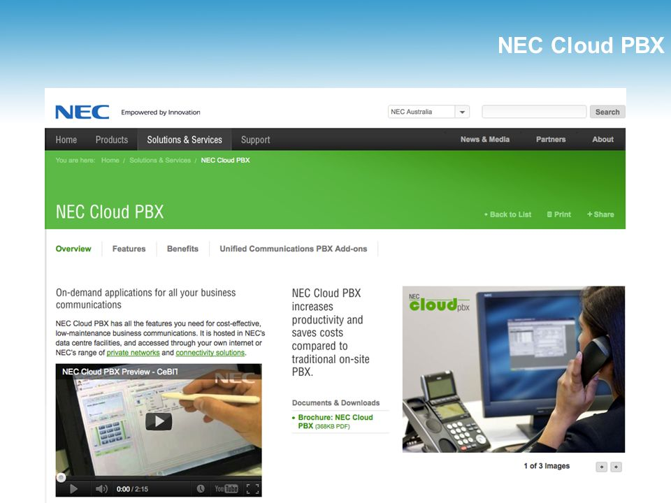 NEC Cloud PBX www.bicomsystems.com