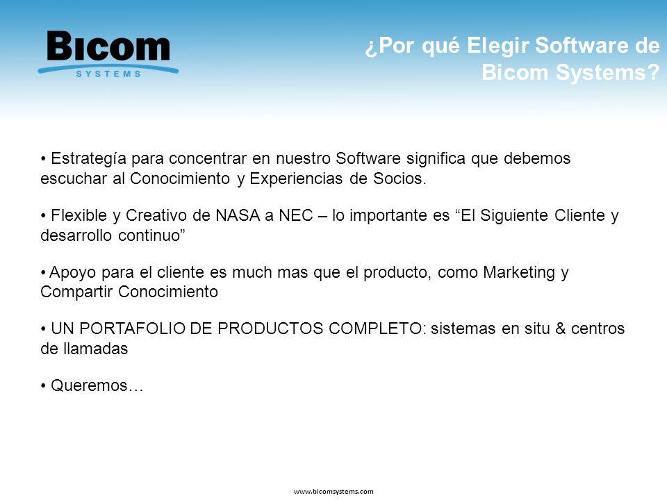 ¿Por qué Elegir Software de Bicom Systems