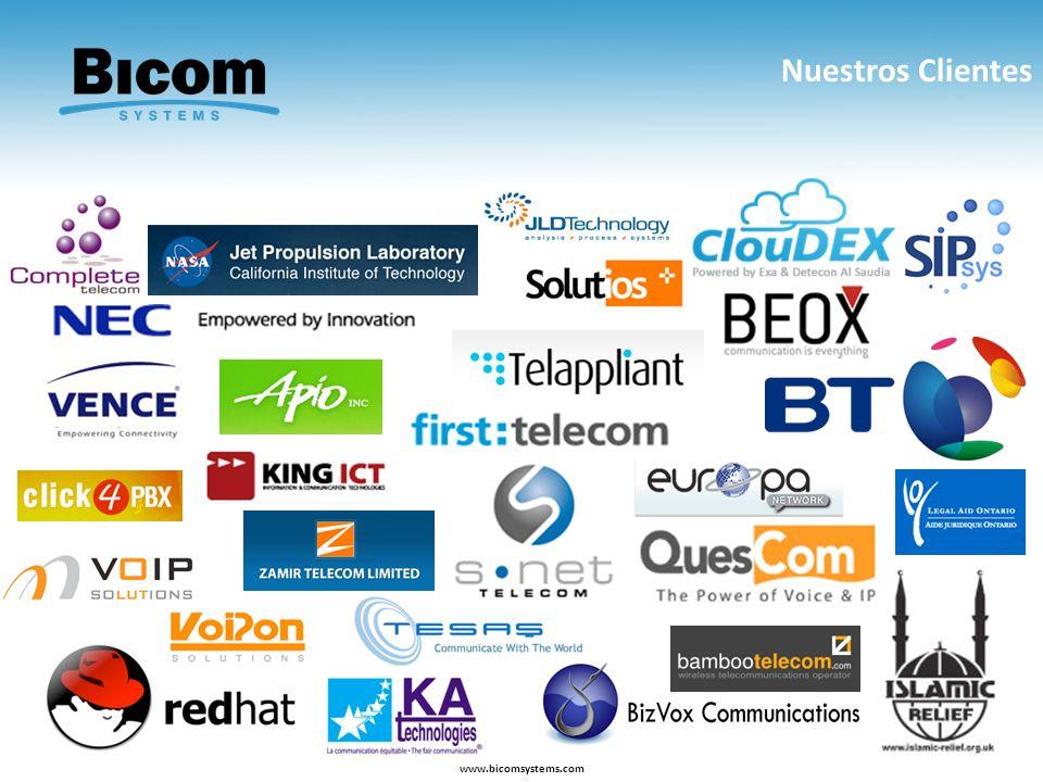 Nuestros Clientes www.bicomsystems.com