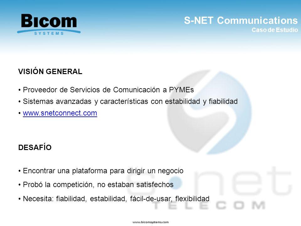 S-NET Communications VISIÓN GENERAL