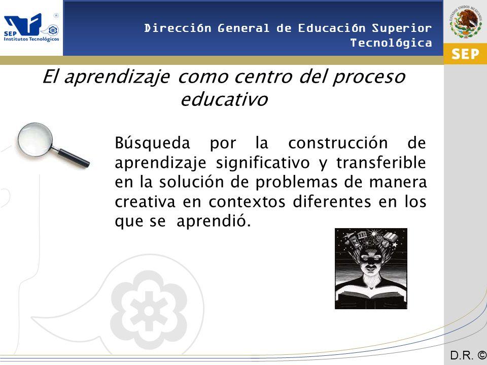 El aprendizaje como centro del proceso educativo