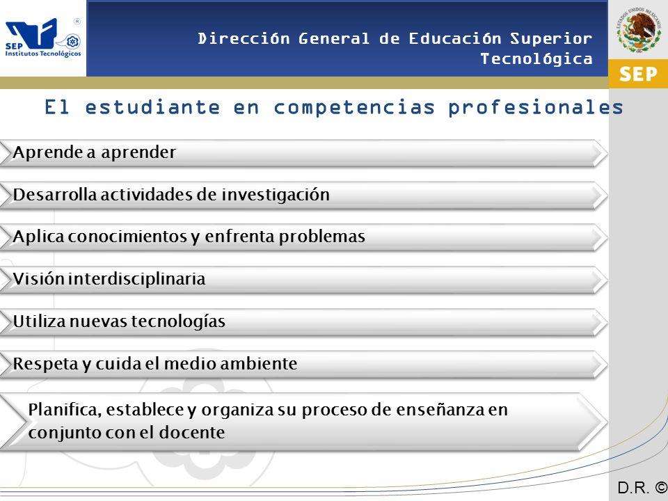 El estudiante en competencias profesionales