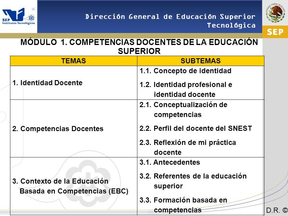 MÓDULO 1. COMPETENCIAS DOCENTES DE LA EDUCACIÓN SUPERIOR