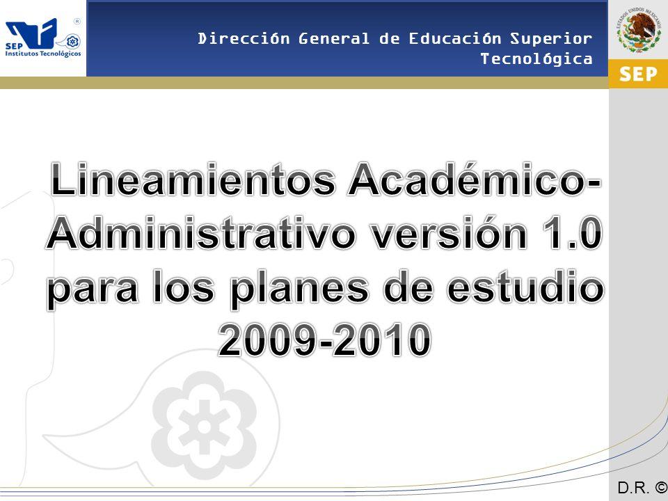Lineamientos Académico-Administrativo versión 1