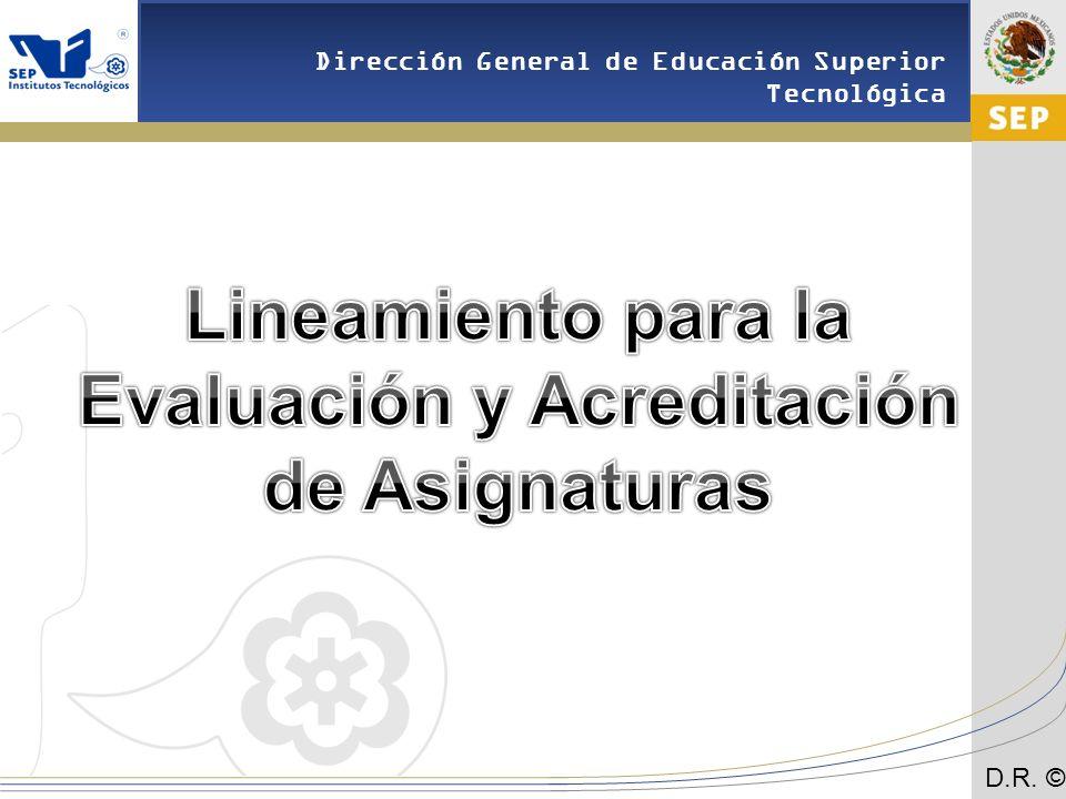 Lineamiento para la Evaluación y Acreditación de Asignaturas
