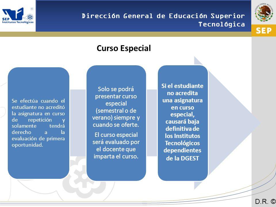 El curso especial será evaluado por el docente que imparta el curso.