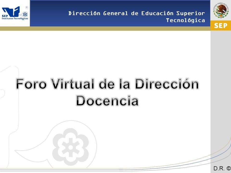 Foro Virtual de la Dirección Docencia