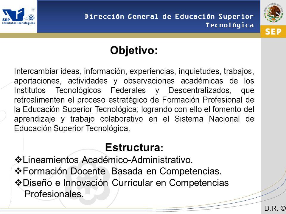 Objetivo: Estructura: