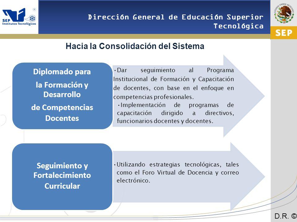 Hacia la Consolidación del Sistema