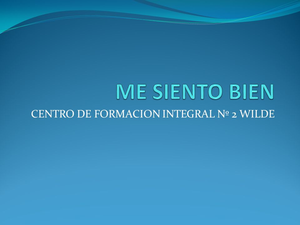 CENTRO DE FORMACION INTEGRAL Nº 2 WILDE