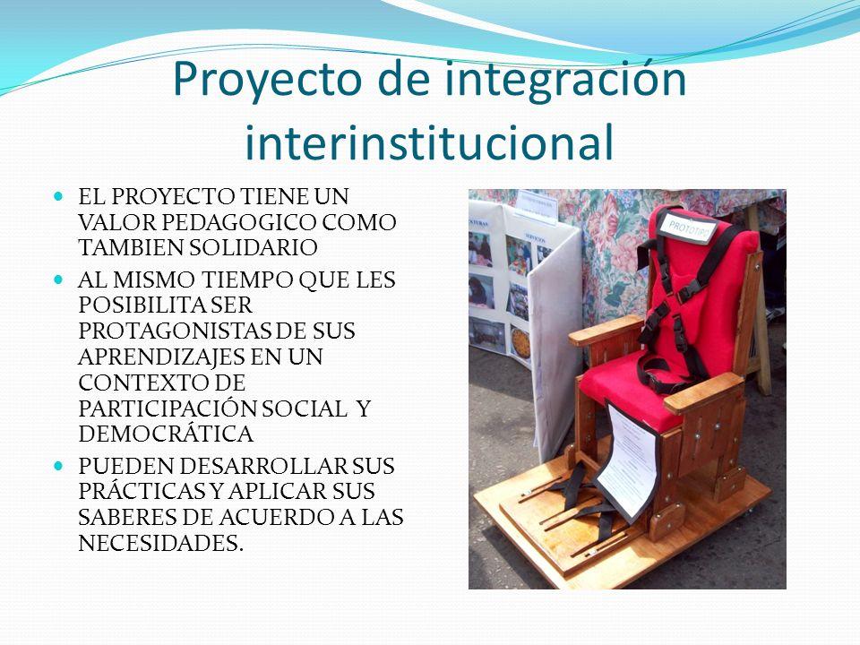 Proyecto de integración interinstitucional