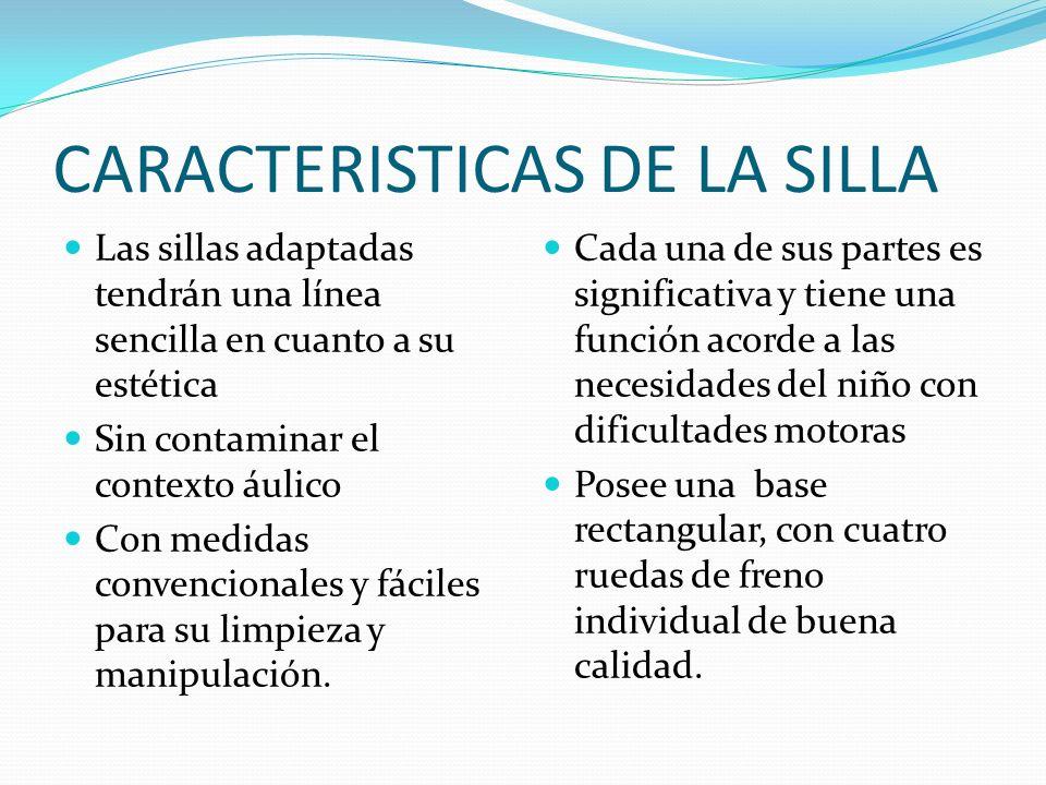 CARACTERISTICAS DE LA SILLA