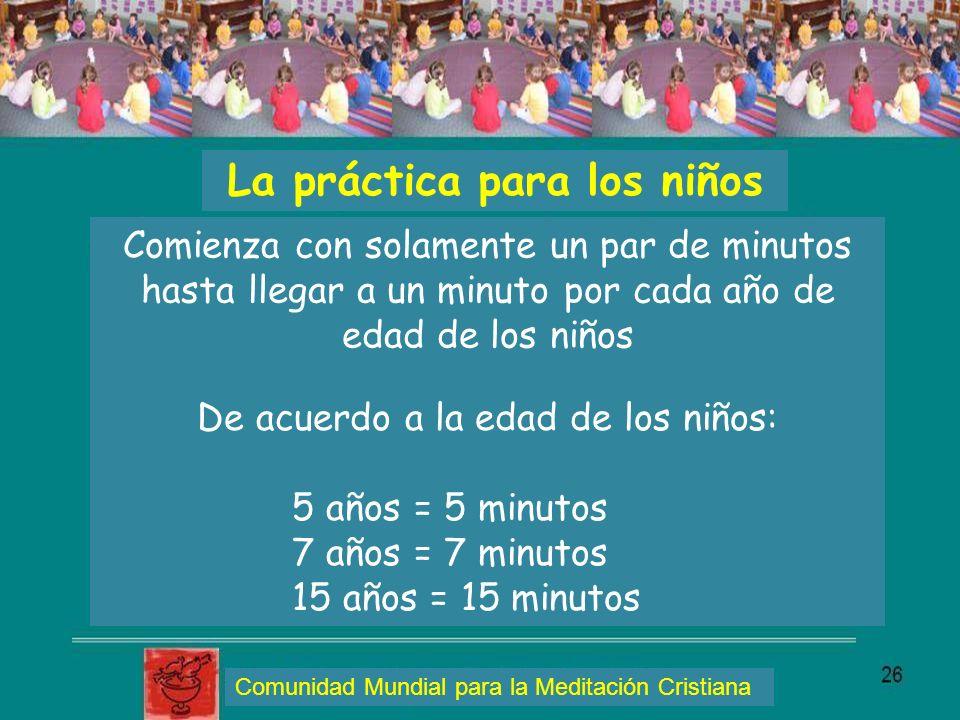 La práctica para los niños