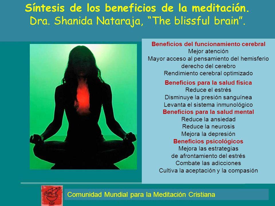 Síntesis de los beneficios de la meditación.