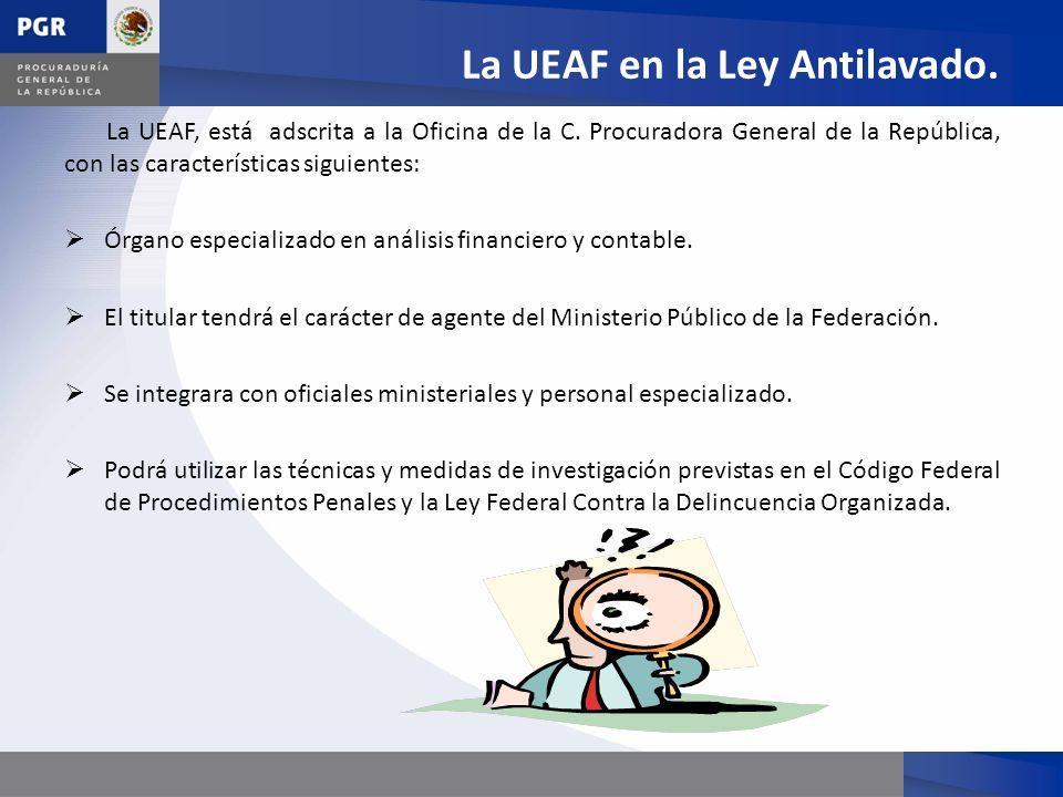 La UEAF en la Ley Antilavado.
