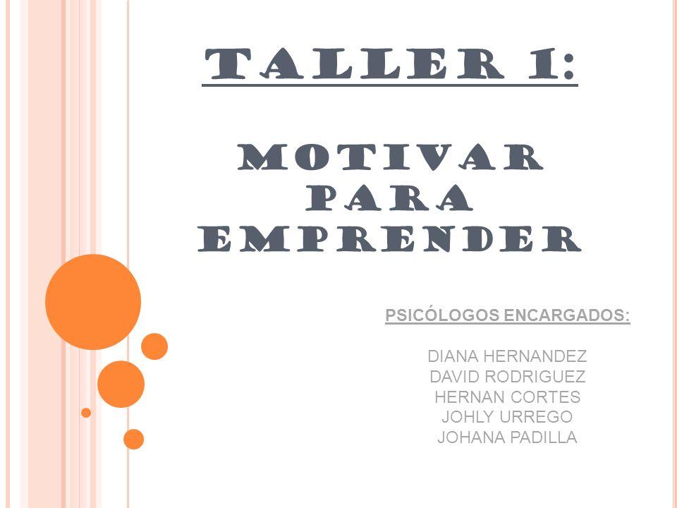 TALLER 1: MOTIVAR PARA EMPRENDER