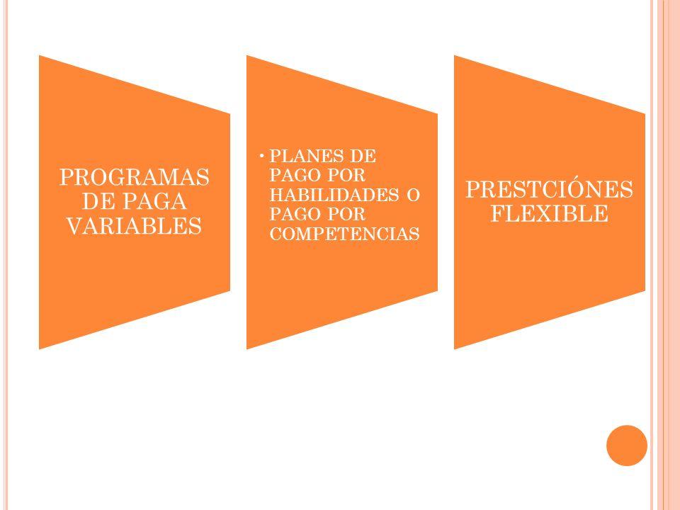PROGRAMAS DE PAGA VARIABLES