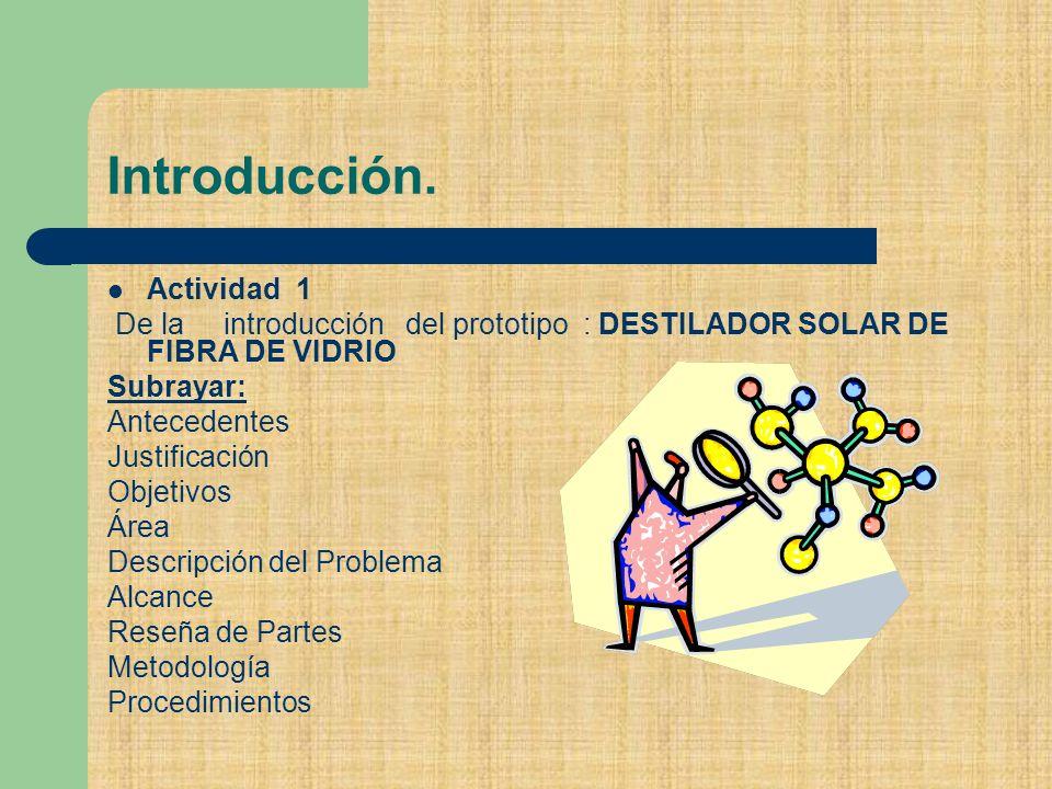 Introducción. Actividad 1