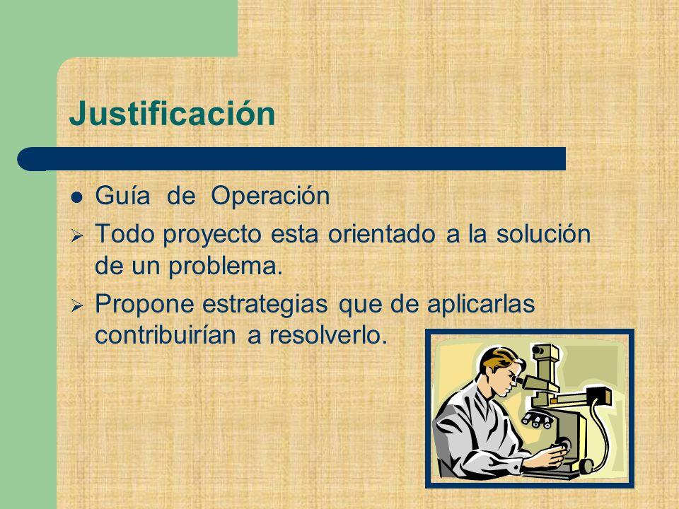 Justificación Guía de Operación