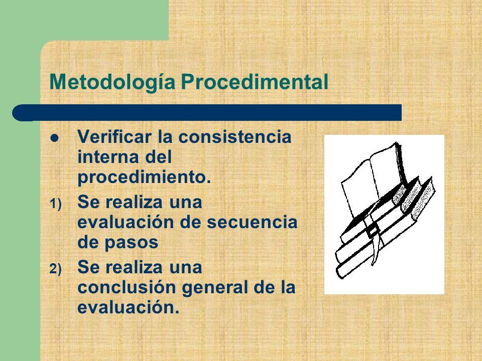 Metodología Procedimental
