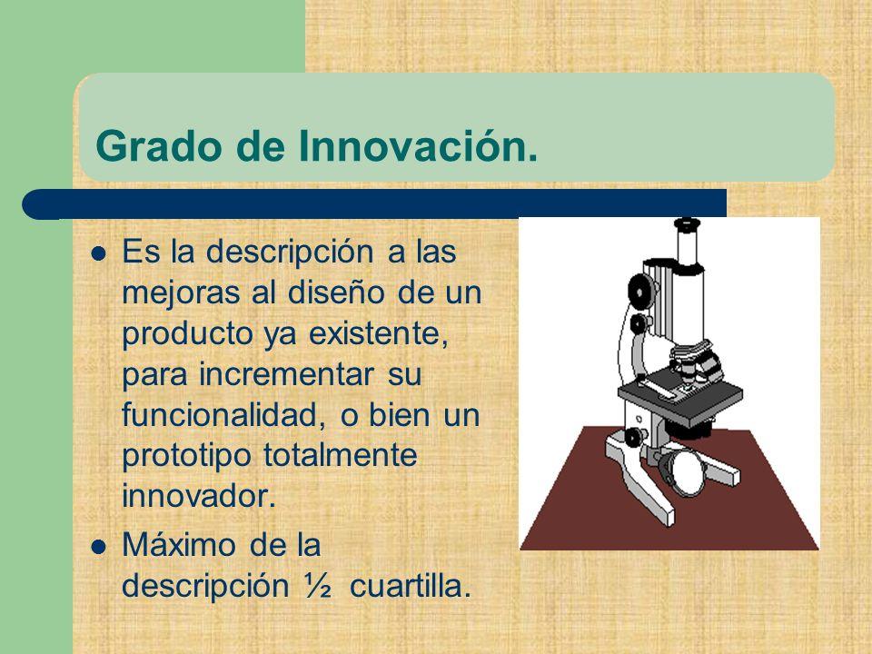 Grado de Innovación.
