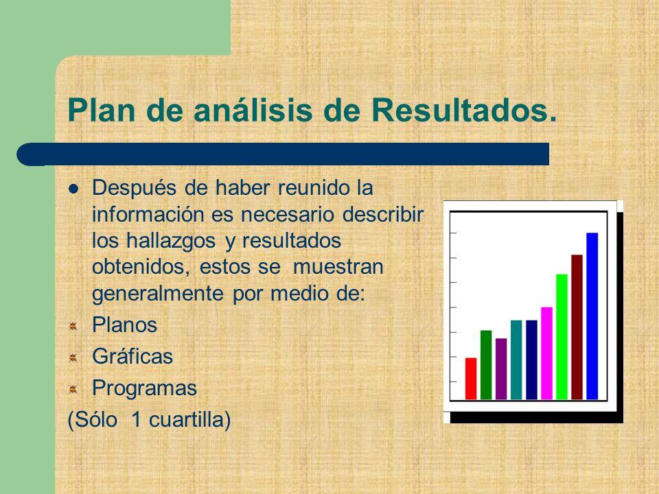 Plan de análisis de Resultados.