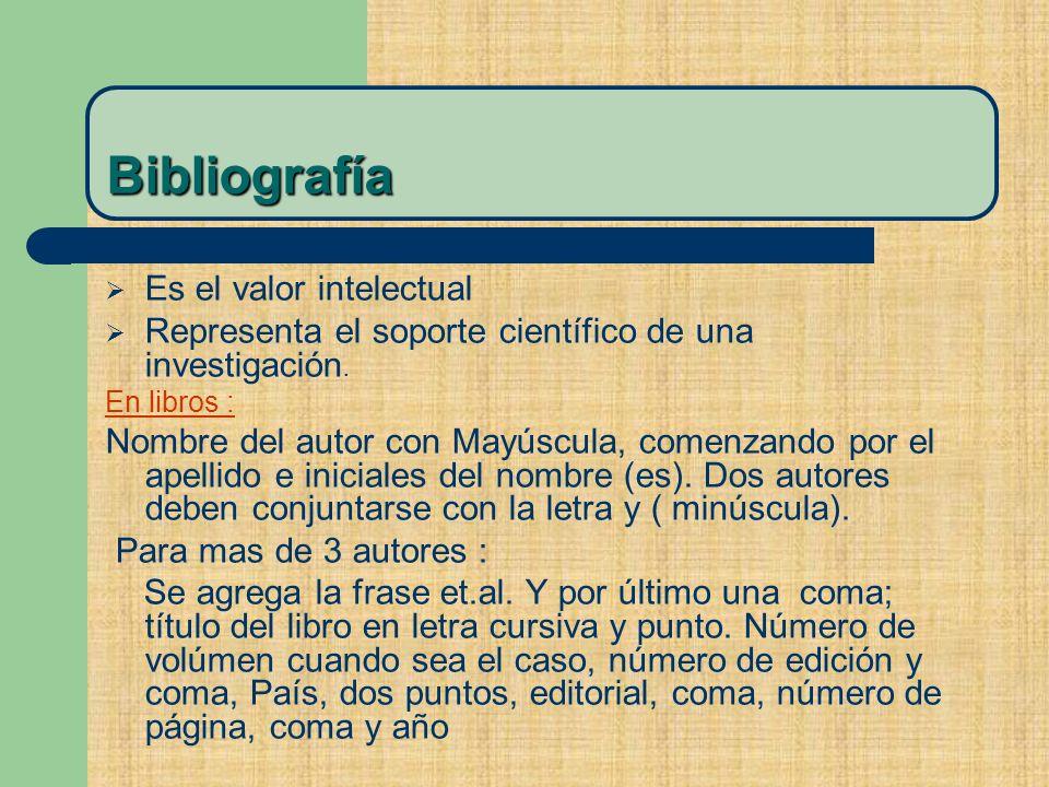 Bibliografía Es el valor intelectual