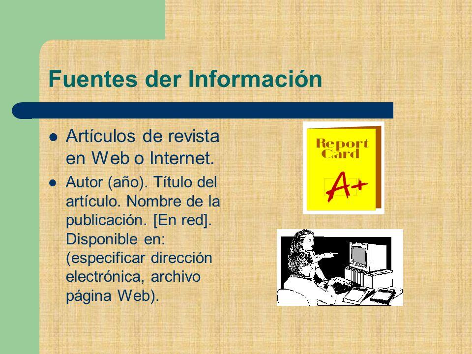 Fuentes der Información