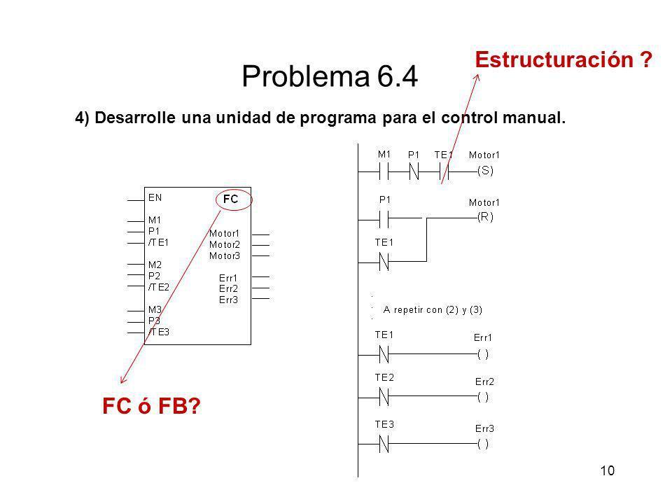 Problema 6.4 Estructuración FC ó FB